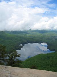 View of a Lake, 1/2 mile past the summit