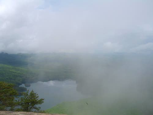 Overlook, covered by clouds