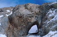 Arch of metamorphic rock...