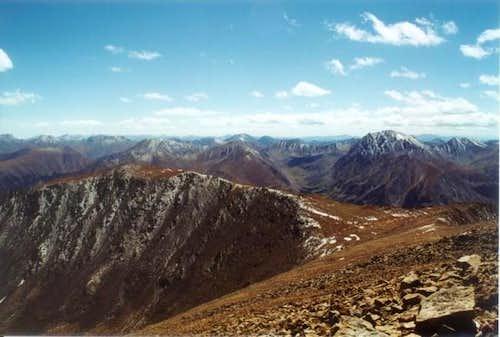 Top of Elbert looking West.
