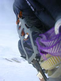 After the Crux the crampon is useless