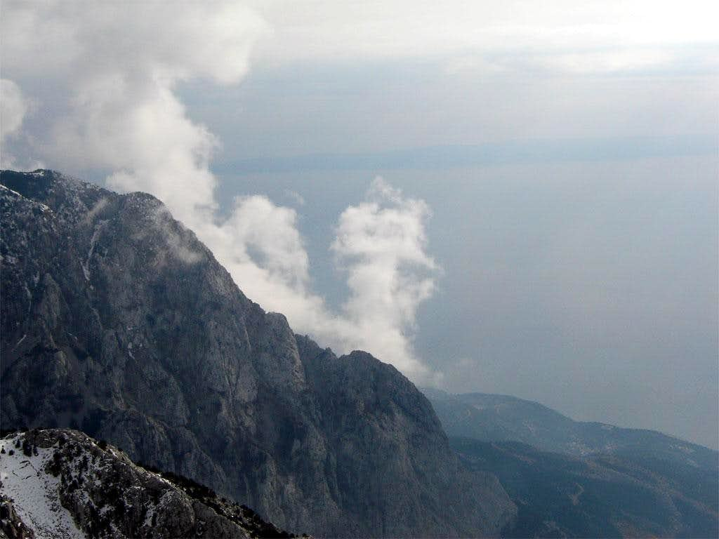 Sibenik peak from Osicine