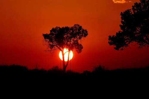 Sunset in Chisos Basin Window