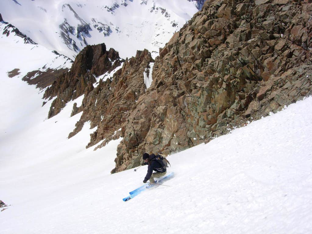 Skiing Mount Sneffels' South Face