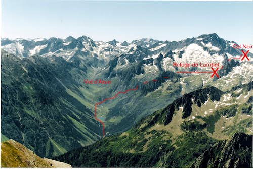 Col Noir Route, from the Plan d Aste