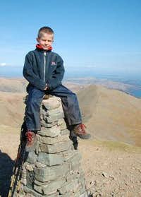 Me sitting on the trig point...