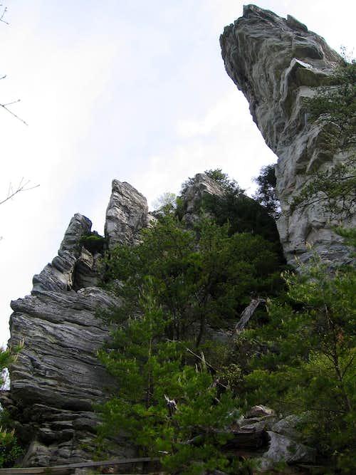 Hanging Rock from below