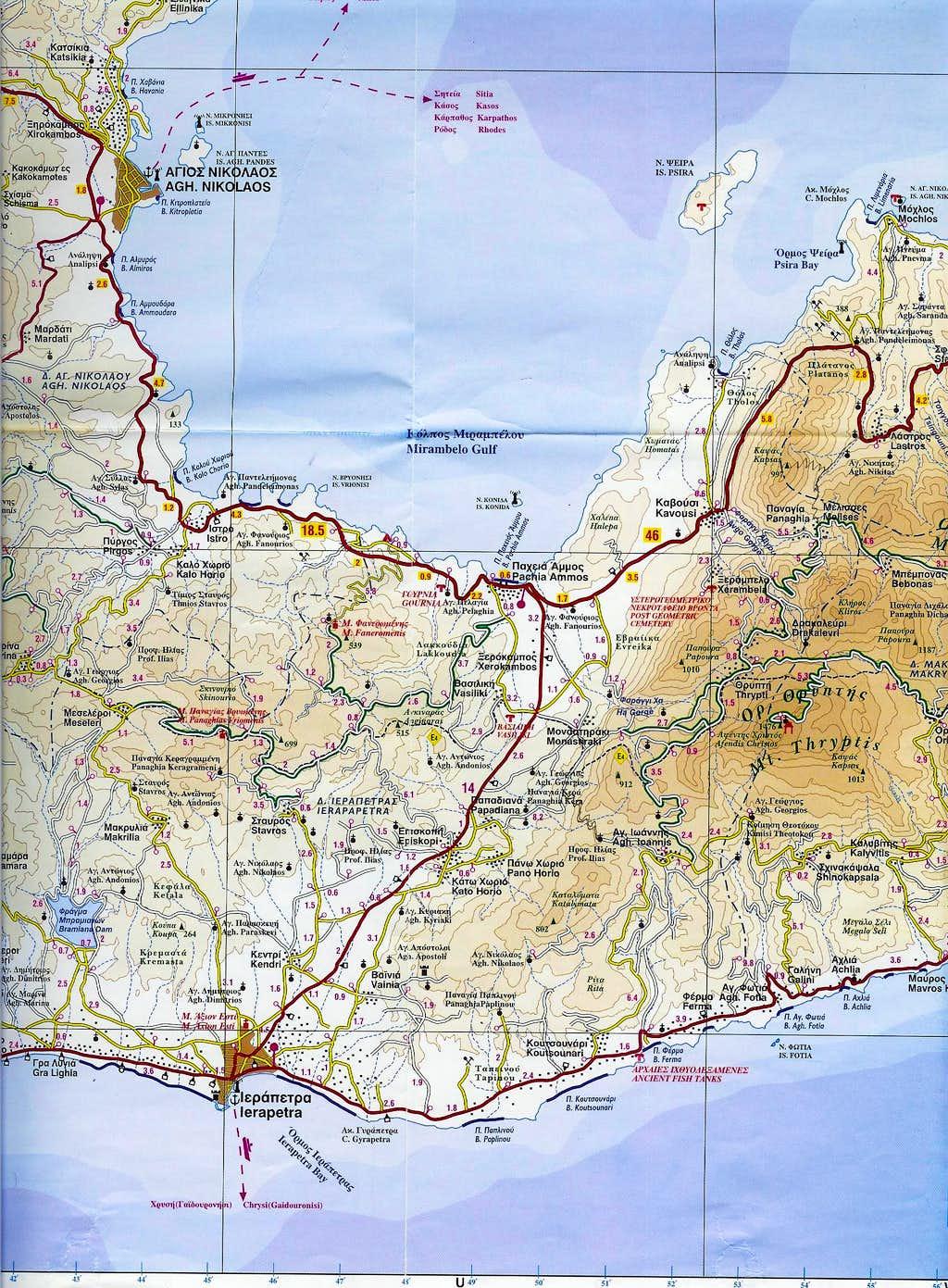 Ha gorge map