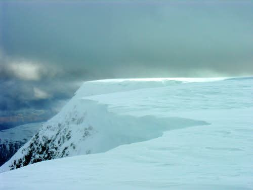 North side of Aonach Mor