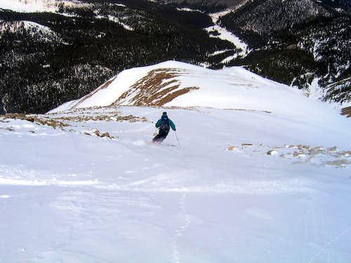 Skiing the Northwest Ridge