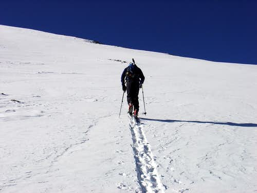 Skinning in the Snow Gully