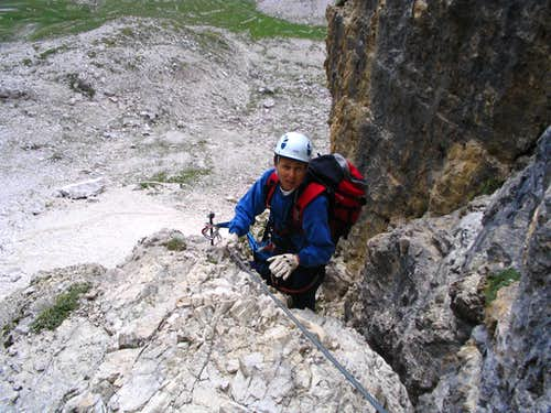 On the ferrata