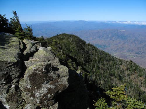 Roan High Bluff Summit Rocks & View