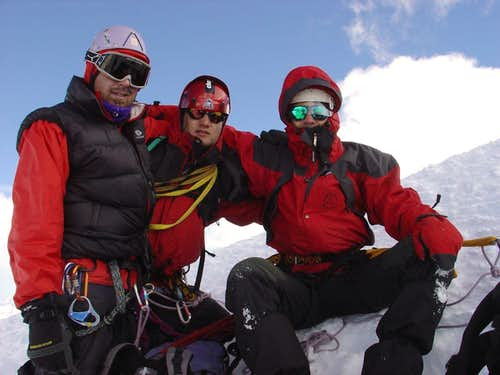 Boys on the summit 4107m