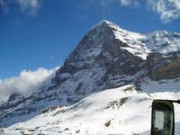 Eiger North Face from the train