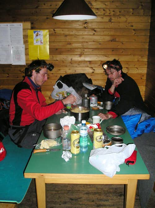 Inside the Guggi Hutte