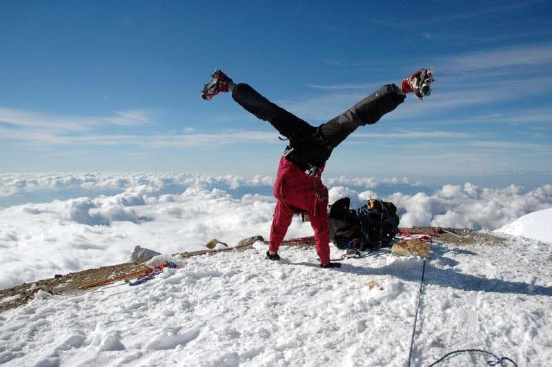 Mount Baker Summit Cartwheel