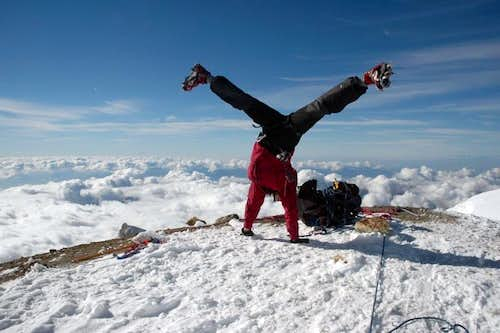 Mount Baker Summit Cartwheel
