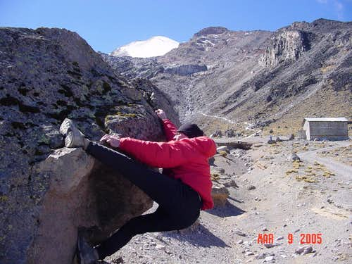 Bouldering at Orizaba Base Camp