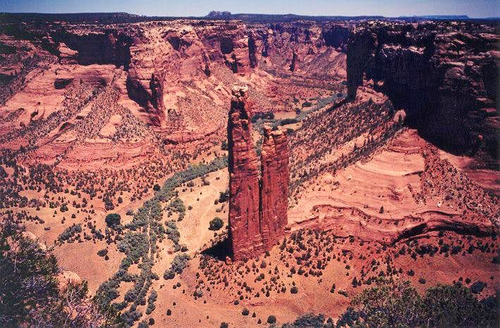Spider Rock - wide angle