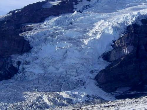 Shot of Nisqually Glacier,...