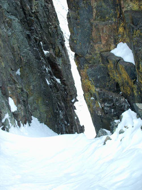 Looking Down Crazy Couloir