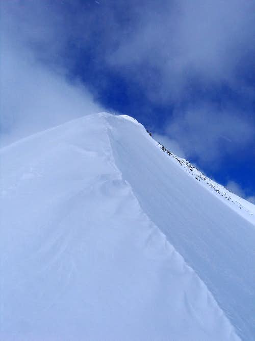 spindrift on Peak 10 east ridge