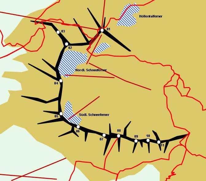 Hand drawn map of Zugspitzpplatt