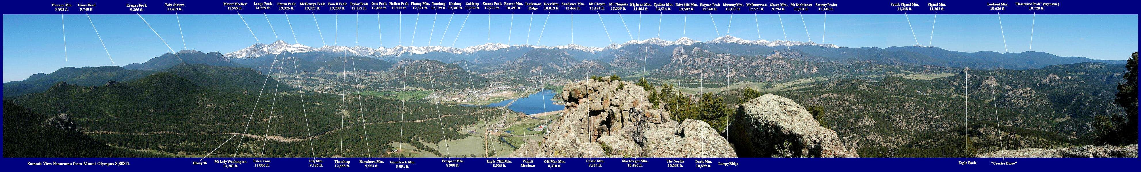 Mount Olympus Summit View Panorama