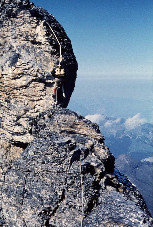 Eiger: Mittellegi ridge....