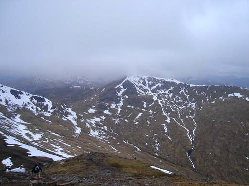 Meall Corranaich on the descent from Ben Lawers