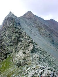 Colle Garin and the ridge with Punta di Pian Bessey <i>3081m</i> and Punta della Valletta <i>3090m </i>