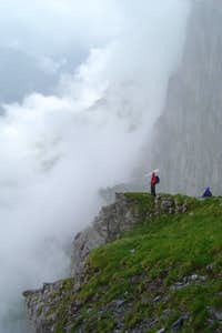 Into the clouds part way up