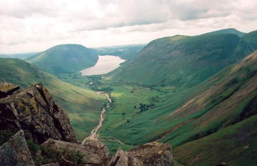 Looking down on Wasdale