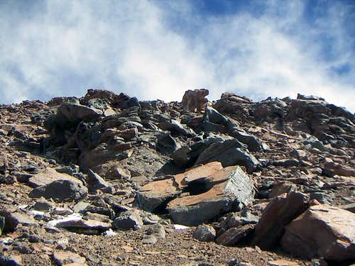 The rocky section