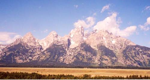 The Tetons from the valley...