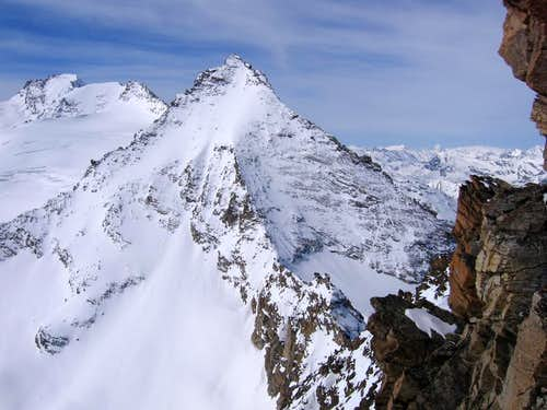 The pyramidal Herbetet <i>3778m</i> <br>seen from Gran Serra <i>3552m</i> summit