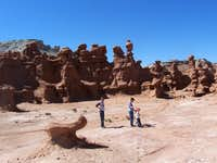 Hiking in Goblin Valley