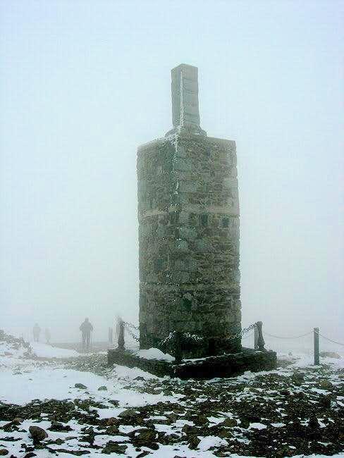 Summit marker ...