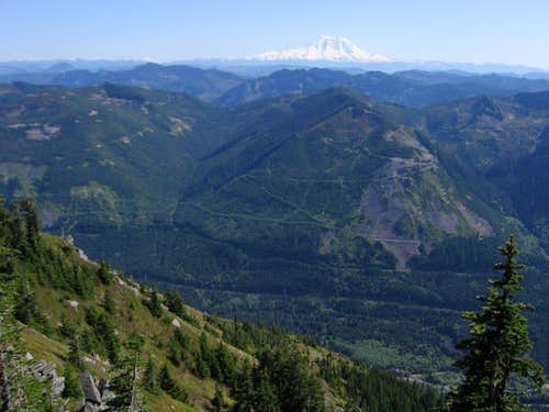 South toward Rainier