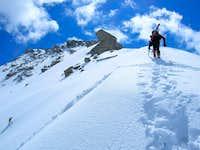 Ascending the West Ridge