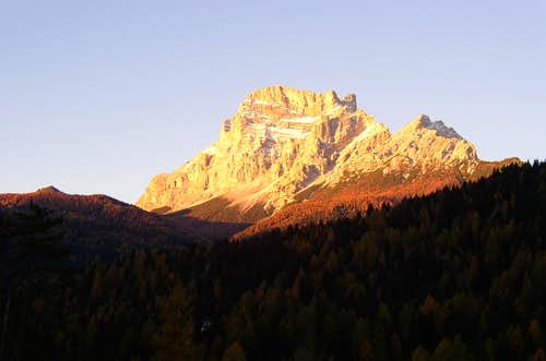 Monte Pelmo at dawn