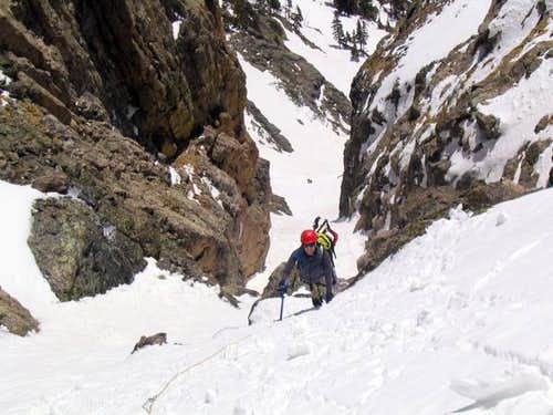 Couloir and Glacier Climbs in the Denver Area