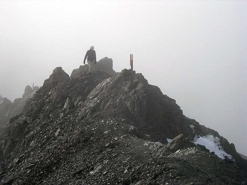 Kim on final summit ridge