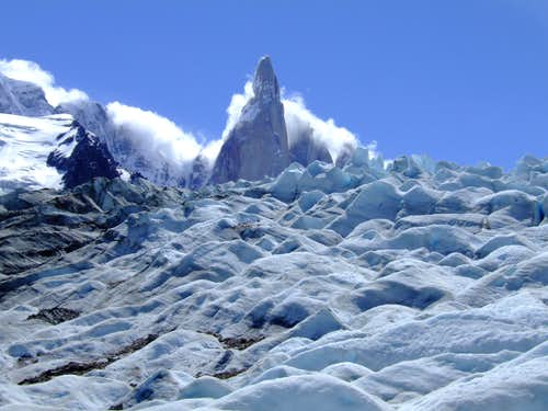 Cerro Torre from the glaciar