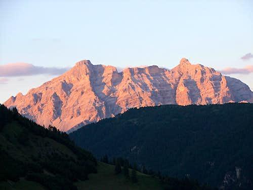 Alpenglühen on La Varella