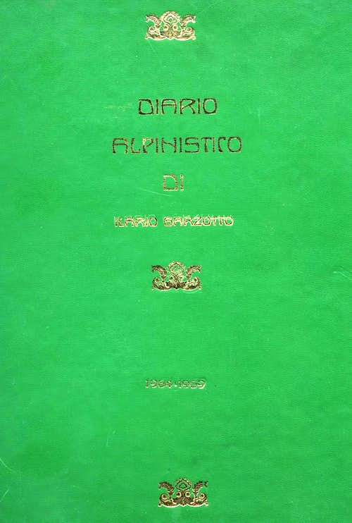 Cover of the Mountaneering Diary 1964-69 <br>of Ilario Antonio Garzotto