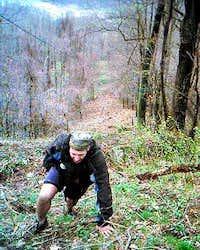 Steve Simmons climbing Rat's...