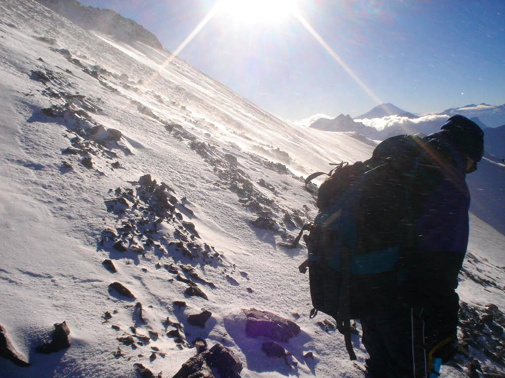 High Winds on Cerro Plomo, Chilean Andes