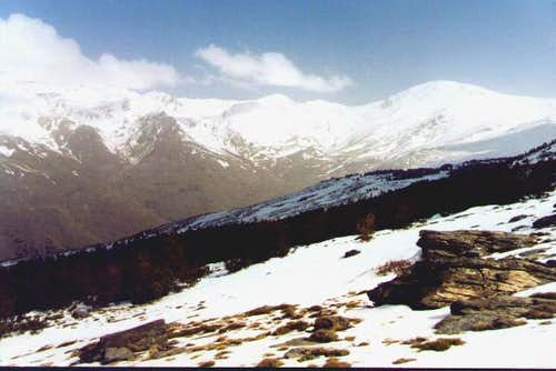 The main ridge from the south...
